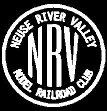 white nrv inside a white circle